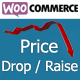 WordPress woocommerce drop or raise prices