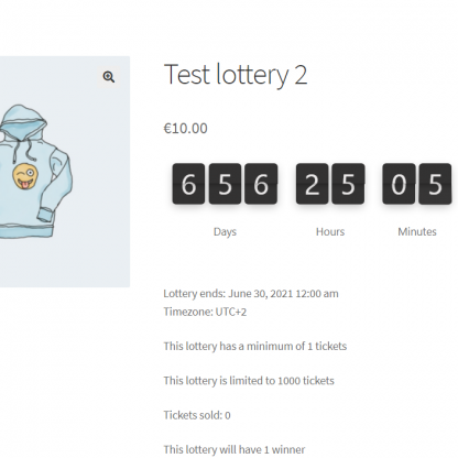 Flip Countdown Timer for WooCommerce Lottery